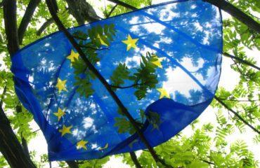 EU flag in trees by Niccolo Caranti