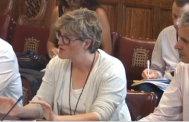 Charlotte Burns & Andy Jordan giving evidence in front of House of Lords