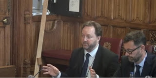 Bryce Stewart giving evidence in the Lords