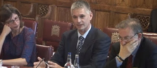 Andrew Jordan giving evidence House of Lords