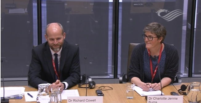Richard Cowell and Charlotte Burns giving evidence
