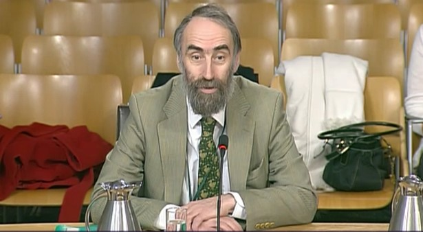 Colin Reid at Scottish Parliament