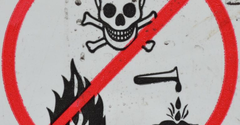 Chemicals warning sign