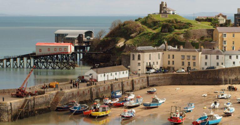 Welsh fishing port