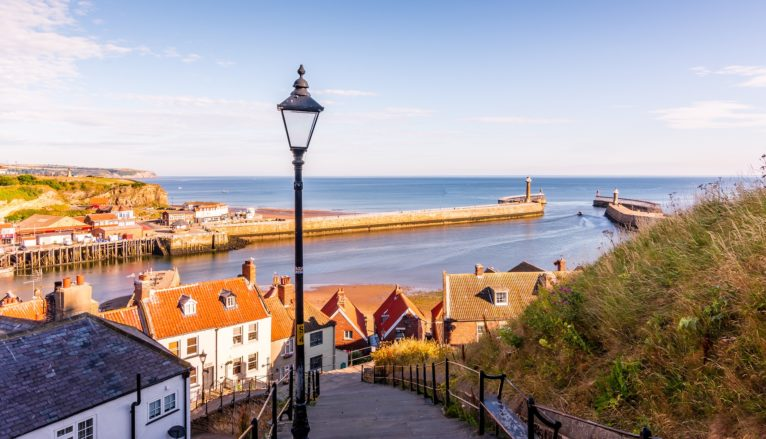 Whitby, North Yorkshire, a site of UK fisheries. Whitby, North Yorkshire. By Tim Hill.